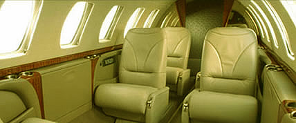 Innenansicht der Citation CJ3 Private Jet