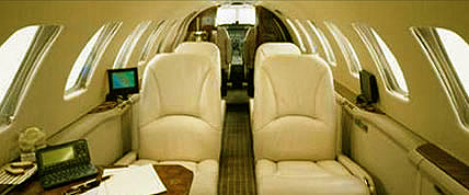 Innenansicht der Citation Encore Private Jet