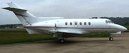 Hawker 700 private Jet