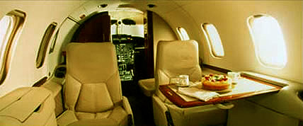 Innenansicht des Learjet 35A Private Jet